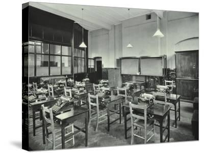 Typewriting Room, Balham and Tooting Commercial Institute, London, 1931--Stretched Canvas Print