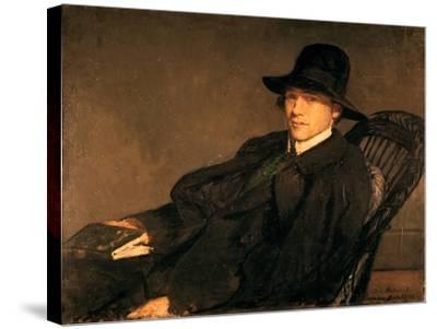 Portrait of Andre Gide (1869-1951), 1912-Jacques Emile Blanche-Stretched Canvas Print