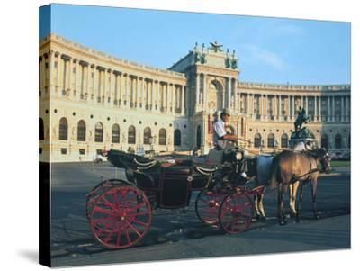 The Hofburg with Carriage, Vienna, Austria-Peter Thompson-Stretched Canvas Print