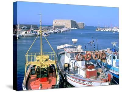 Venetian Harbour and Koules Fortress, Heraklion, Crete, Greece-Peter Thompson-Stretched Canvas Print