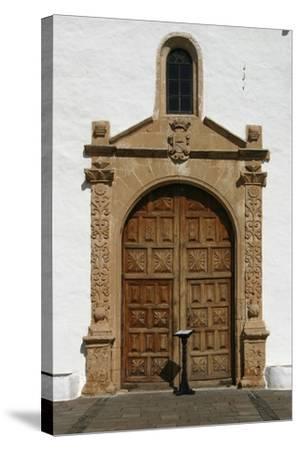 Church, Betancuria, Fuerteventura, Canary Islands-Peter Thompson-Stretched Canvas Print