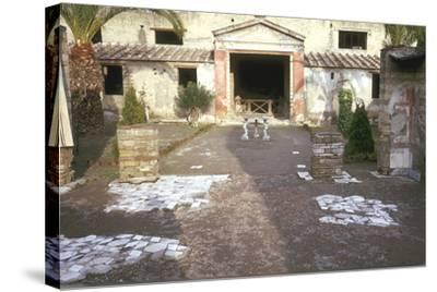 Courtyard at the Roman Villa, the House of the Stags, Herculaneum, Italy-CM Dixon-Stretched Canvas Print