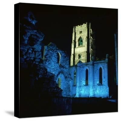 Fountains Abbey, Illuminated, 12th Century-CM Dixon-Stretched Canvas Print