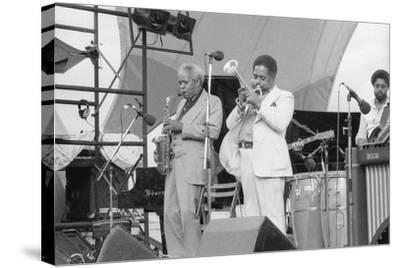 Sonny Stitt and Dizzy Gillespie, Capital Jazz, 1979-Brian O'Connor-Stretched Canvas Print