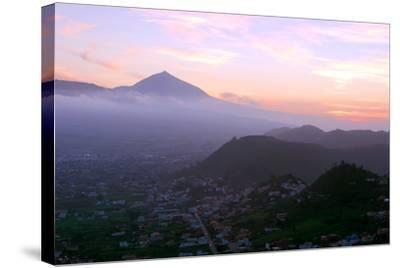 Sunset Behind Mount Teide, Volcano on Tenerife, Canary Islands, 2007-Peter Thompson-Stretched Canvas Print