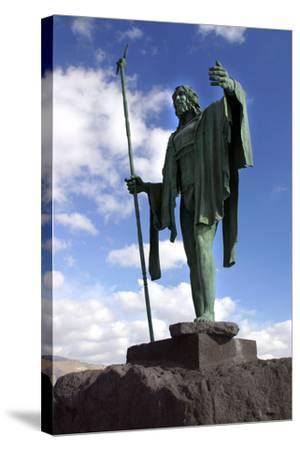 Guanche Statue, Candelaria, Tenerife, 2007-Peter Thompson-Stretched Canvas Print