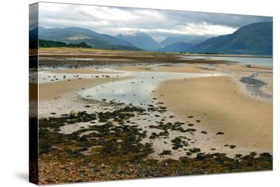 Glencoe from across Loch Linnhe, Highland, Scotland-Peter Thompson-Stretched Canvas Print