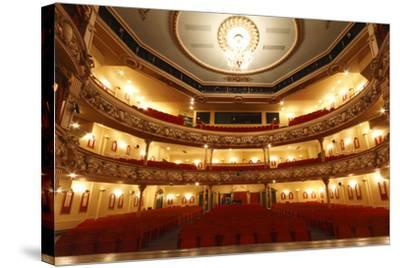 Auditorium of the Grand Theatre, Swansea, South Wales, 2010-Peter Thompson-Stretched Canvas Print
