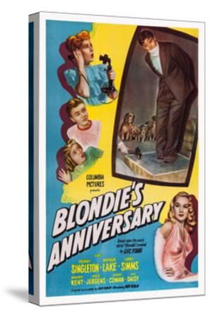 Blonde's Anniversary--Stretched Canvas Print