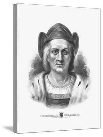 Vintage Print of Christopher Columbus-Stocktrek Images-Stretched Canvas Print