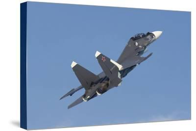 A Russian Navy Su-30Sm in Flight over Russia-Stocktrek Images-Stretched Canvas Print