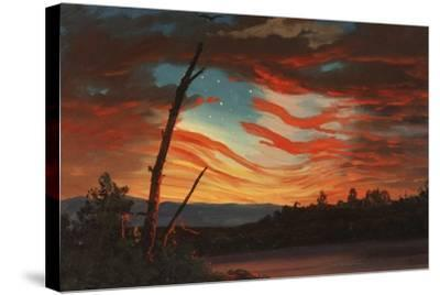 Patriotic and Symbolic Painting after the Attack on Fort Sumter-Stocktrek Images-Stretched Canvas Print