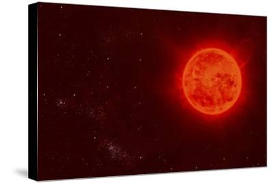 Red Dwarf Sun Floating Through Space-Stocktrek Images-Stretched Canvas Print