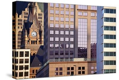 Composition of Milwaukee Buildings-benkrut-Stretched Canvas Print