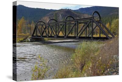 Kettle Valley Rail Bridge over the Nicola River-digimax-Stretched Canvas Print