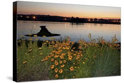 Arrow Island on Mississippi-benkrut-Stretched Canvas Print