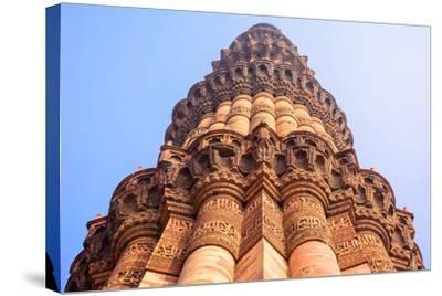 Qutb Minar, the Tallest Brick Minaret in the World , Delhi India.-jackfrog-Stretched Canvas Print