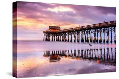 Cocoa Beach, Florida, USA at the Pier.-SeanPavonePhoto-Stretched Canvas Print