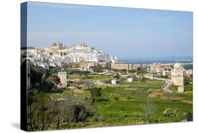 View on the Center of Ostuni, Puglia, Italy-Jorisvo-Stretched Canvas Print