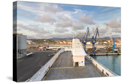 Port of Civitavecchia-lachris77-Stretched Canvas Print