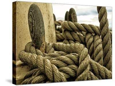 Yachting. Parts of Yacht. Nautical Ship Rope.-Voy-Stretched Canvas Print