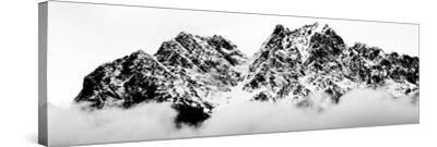 Cloudy Zugspitz in Black and White-Mat Selsek-Stretched Canvas Print