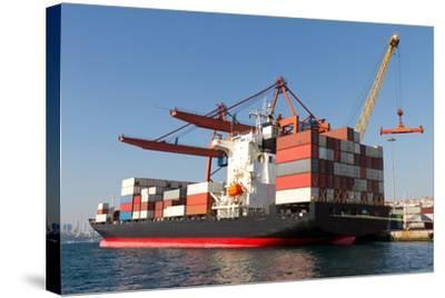 Container Ship-EvrenKalinbacak-Stretched Canvas Print