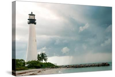 Lighthouse in a Cloudy Day with a Storm Approaching-Santiago Cornejo-Stretched Canvas Print