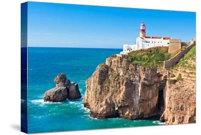 Lighthouse of Cabo Sao Vicente, Sagres, Portugal-topdeq-Stretched Canvas Print
