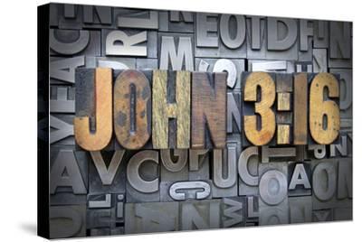 John 3:16-enterlinedesign-Stretched Canvas Print