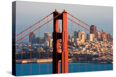 Golden Gate Bridge and Downtown San Francisco at Sunset-Andy777-Stretched Canvas Print