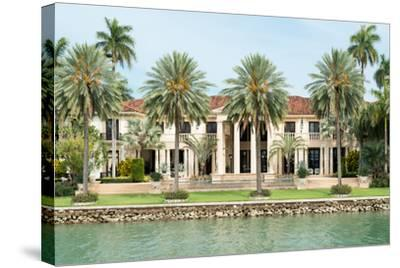 Luxurious Mansion by the Seaside on Star Island, Miami, Home of the Rich and Famous-Kamira-Stretched Canvas Print