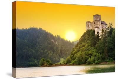 Medieval Niedzica Castle at Czorsztyn Lake in Poland-Patryk Kosmider-Stretched Canvas Print