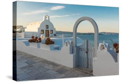 The Famous Blue and White City Oia,Santorini-scorpp-Stretched Canvas Print