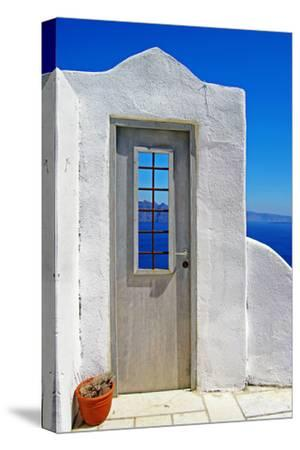 Architectural Details of Santorini - Traditional Cycladic Style-Maugli-l-Stretched Canvas Print