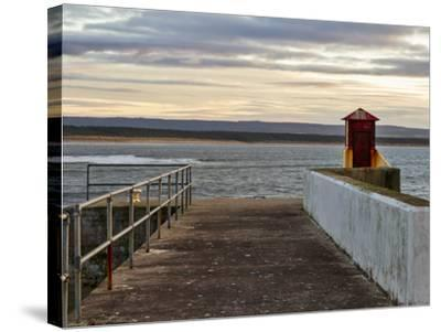 Burghead, Walking the Pier Plank.-Jasperimage-Stretched Canvas Print