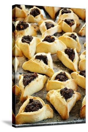 Hamantaschen (Jewish Cookies with Poppy Seed)-Elzbieta Sekowska-Stretched Canvas Print