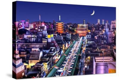 Skyline of the Asakusa District in Tokyo, Japan with Famed Temples.-SeanPavonePhoto-Stretched Canvas Print