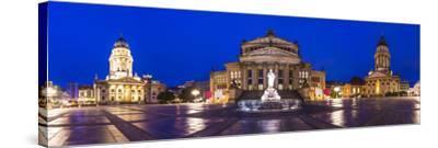 Historic Gendarmenmarkt Square in Berlin, Germany.-SeanPavonePhoto-Stretched Canvas Print