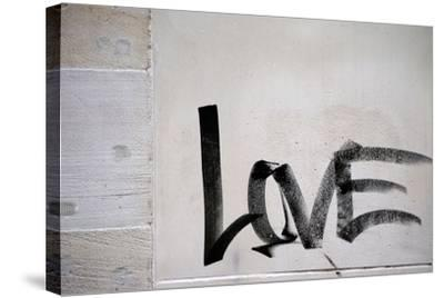 Word Love-ginton-Stretched Canvas Print