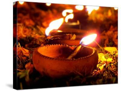 Diwali Lamps-thefinalmiracle-Stretched Canvas Print