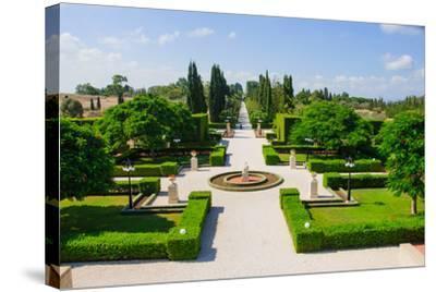 Bahai Gardens, Acre-RnDmS-Stretched Canvas Print