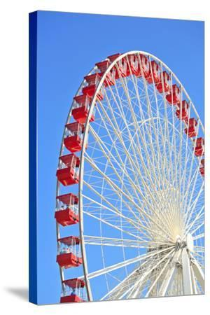 Ferris Wheel at Navy Pier, Chicago-soupstock-Stretched Canvas Print