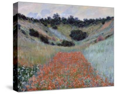 Poppy Field in a Hollow near Giverny by Claude Monet-Claude Monet-Stretched Canvas Print