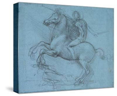 Study for an Equestrian Monument, Recto, by Leonardo Da Vinci-Leonardo Da Vinci-Stretched Canvas Print