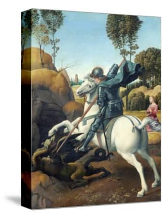 Saint George and the Dragon by Raphael--Stretched Canvas Print