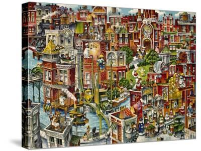 Cat City-Bill Bell-Stretched Canvas Print