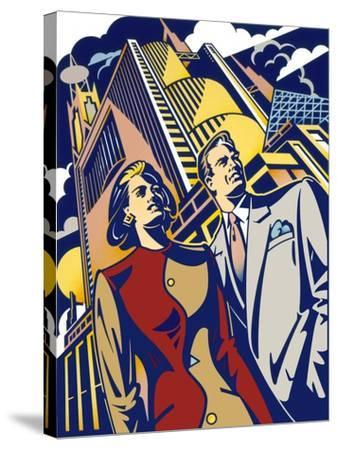 Business Couple-David Chestnutt-Stretched Canvas Print
