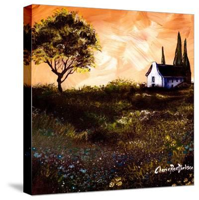 House in the Fields 1-Cherie Roe Dirksen-Stretched Canvas Print