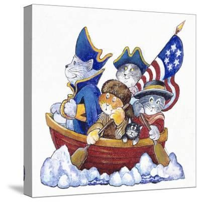 Potomac Cats-Bill Bell-Stretched Canvas Print
